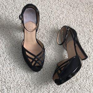 Peep Toe Black Cole Haan Platform Heels Nike Air